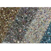 Buy cheap Diamond Chunky Glitter Sparkle Fabric , Decorative Glitter Wall Fabric from wholesalers