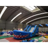 Buy cheap Blue Shark Blow Up Slippery Slide Inflatable Lawn Water Slide For Kids And Adults from wholesalers