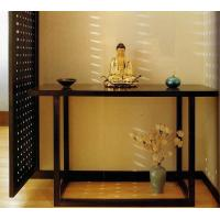Buy cheap 5 Star Hotel Lobby Solid Wood Console Table Walnut  Veneer Reception Table from wholesalers