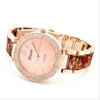 Buy cheap Vogue Diamond Geneva Flower Watch Pink /  Girl Wristwatches Rrelogio 2015 from wholesalers