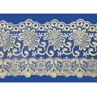 Buy cheap Colorful Lingerie Lace Fabric Custom Made Embroid Organza French Guipure Lace Fabric from wholesalers