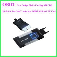 Buy cheap New Design Multi-Cardiag M8 CDP 2013.01V for CarsTrucks and OBD2 With 4G TF Card from wholesalers