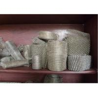 Buy cheap 304 / 316 Knitted Stainless Steel Wire Mesh 20-700mm Width With Wire 0.01  0.009 from wholesalers