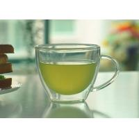 Buy cheap Double Walled Glass Tea Cups With Handle Heat Resistant Borosilicate Glass from wholesalers