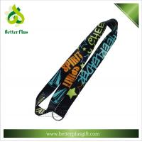 Buy cheap 2.5*90cm smooth polyester heat transfer printing lanyards with split ring from wholesalers