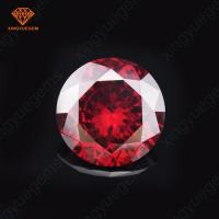 Buy cheap 1 carat Red Garnet aaa round cubic zirconia Rose cut cz diamond price from wholesalers