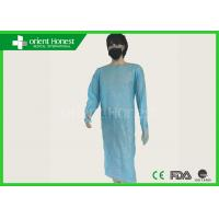 Buy cheap Disposable Protection Plastic Medical CPE Gown / Suits , Blue from wholesalers