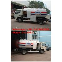 Buy cheap 2016s new designed 2.3tons dongfeng LHD 4*2 mobile lpg gas refilling truck, best price lpg gas bobtail vehicle for sale from wholesalers