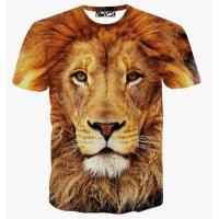 Buy cheap Fashion Clothing Latest New Lion 3d Tshirt Wholesale Lion 3d T shirt For Men from wholesalers