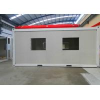 Buy cheap White Panel Flat Pack Container House Environmental Friendly With Double Window from wholesalers