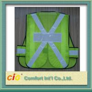 Buy cheap EN20471 / CE Standard LED Reflective Safety Vests , Orange Reflective Security Clohting product