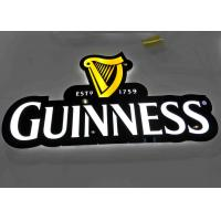 Buy cheap LED illuminated Beer Plexglass Bar Sign For Displaying Beer Customized Logo Shape from wholesalers