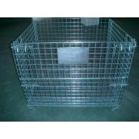 2000 Pounds Collapsible Wire Container Steel Mesh Storage Bins 40x 32x 33 Inch