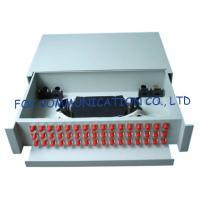 Buy cheap High strength Sliding Fiber Optic Patch Panel / FC 48 port patch panel from wholesalers