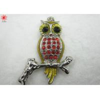 Buy cheap Cute Owl Shaped Pendant Charms With Rhinestones , Keychain Pendant product