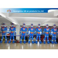 Buy cheap Advertising Oxford Cloth Blue Inflatable Superman With Blower 3m High product