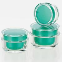 Buy cheap ECO-Friendly green cosmetics plastic pp cream jar with different size product