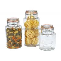 Buy cheap Promotional  Glass Storage Canisters with chromed clamp and airtight  lids food grade product
