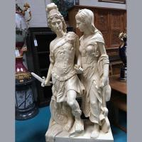 Buy cheap Antique Roman Hero Sculpture Large Marble Statue of Alexander the Great with Lady from wholesalers
