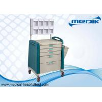 Buy cheap ABS Material Five Drawers Anesthesia Cart  With Multi Bin Organizer from wholesalers