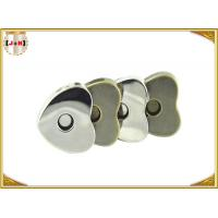 China Custom Heart Shaped Magnetic Bag Buttons Clasps Various Surface Finishes on sale