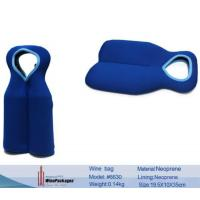 Buy cheap Promotional gifts two bottles design neoprene wine pouch from wholesalers