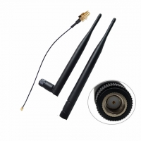 Buy cheap 2.4GHz 5GHz Dual Band Tilt Rubber Duck WIFI Antenna 6DBi Pigtails With Ufl RP-SMA Connector from wholesalers
