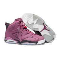 Buy cheap Air Jordan Retro 6 Basketball Shoes Men's footwear plum colour034 from wholesalers