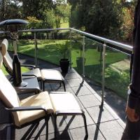 Buy cheap Brand new metal porch railing / balustrade with clear glass design product