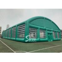 Buy cheap 37x19m big sports arena air sealed inflatable tent with transparent windows N removable doors from wholesalers
