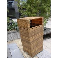 Buy cheap Outdoor Rattan Furniture Trash Bin For Park / Bistro / Riverside from wholesalers