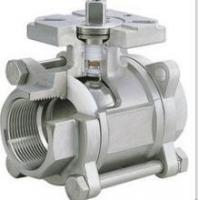 Buy cheap 3-pc stainless steel ball valves full port 1000wog BSPP NPT ISO-5211 DIRECT MOUNTING PAD from wholesalers