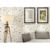 Buy cheap Leaf Pattern Embossed Vinyl Modern Removable Wallpaper Contemporary Wall Coverings from wholesalers