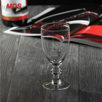 Buy cheap Glassware gift box custom printed wine glass with beads short stem from wholesalers