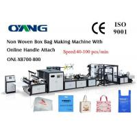 Buy cheap Computer Control Non Woven Bag Manufacturing Machine Bag Forming Equipment from wholesalers