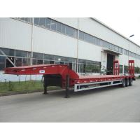 Buy cheap 60 ton low bed Semi-trailer with tri-axle and extendable side from wholesalers