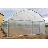 Buy cheap Garden Walk In 4 Shelves& Reinforced PE Cover green houses,Agriculture Farm Commercial Plastic PE Film Multi Spans Green from wholesalers