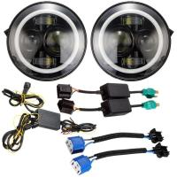 Buy cheap Angel Eyes Halo Car Lights IP 68 6500K-7000K Halo Jeep Headlight Work Light from wholesalers