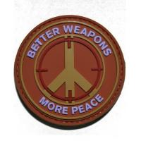 Buy cheap better weapons more peace pvc morale patch from wholesalers