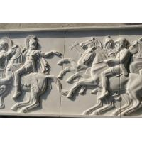 Buy cheap White marble relief carved by hand/ War horse stone relief from wholesalers