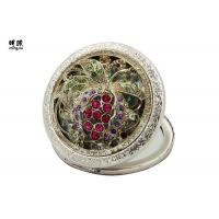 Buy cheap Multi - Fuction Retro Small Compact Mirror Antique Color 3D Crystal Logo product