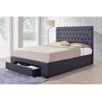 Buy cheap Comfortable Linen Fabric King Bed With Drawer For Apartment Kids Student from wholesalers