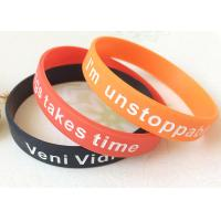 Buy cheap Adult Logo Depressed And Dyed Custmozied Promotional Silicone Rubber Wristbands from wholesalers