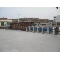 Buy cheap Acrylic optical flap barrier with RFID readers high flow pedestrian gate product