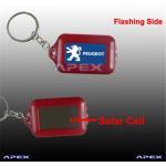 Buy cheap Blinking Image Solar key chain flashlight from wholesalers