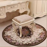 Buy cheap Brown Jacquard Chair Floor Mats Round Shape High Wear Resistance from wholesalers