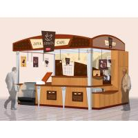 Buy cheap Plywood, glass, formica outdoor touchscreen coffee Retail mall public information kiosk from wholesalers