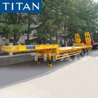 Buy cheap 2 Axle lowbed semi trailer TITAN 30-40 Ton heavy duty equipment trailers from wholesalers