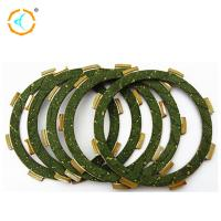 Buy cheap 125cc Motorcycle Spare Parts / Green Rubber Material Motorcycle Clutch Plate from wholesalers