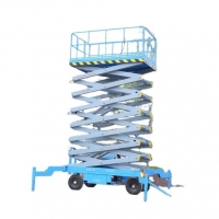 Buy cheap Hydraulic Hand Push Manual Moving Mobile Towable Scissor Lift for Aerial Work from wholesalers